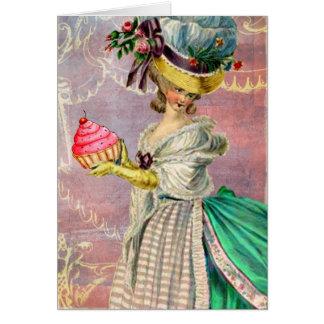 Les Petits Gateaux Marie Antoinette Cupcake Card