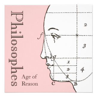 Les Philosophes Age of Reason Party Invitations