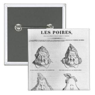 Les Poires, caricatura de rey Louis-Felipe Pins