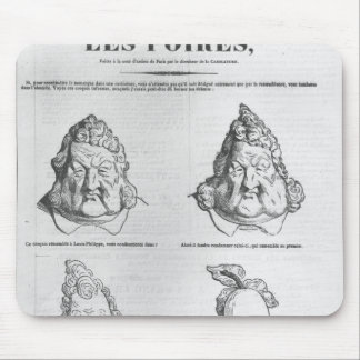 Les Poires, caricature of King Louis-Philippe Mouse Pad