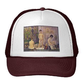 Les Poseuses Ensemble By Seurat Georges Trucker Hat