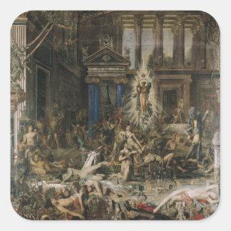Les Pretendants, 1862-98 Square Sticker