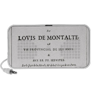 Les Provinciales' by Blaise Pascal iPod Speaker