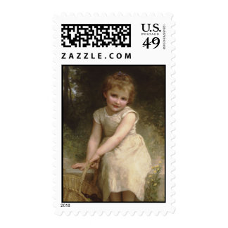 Les Prunes (Plums) William-Adolphe Bouguereau Postage Stamps