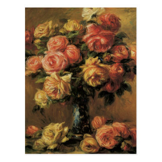 Les Roses Dans Un Vase Postcard