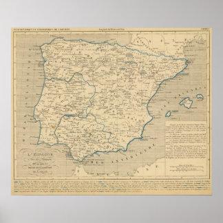 Les sous Romains de L'Espagne 409 apres JC de la A Póster