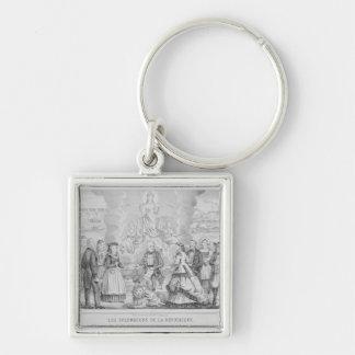 Les Splendeurs de la Republique', 1872 Llavero Cuadrado Plateado