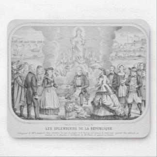 Les Splendeurs de la Republique' , 1872 Mousepad