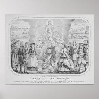 Les Splendeurs de la Republique' , 1872 Poster