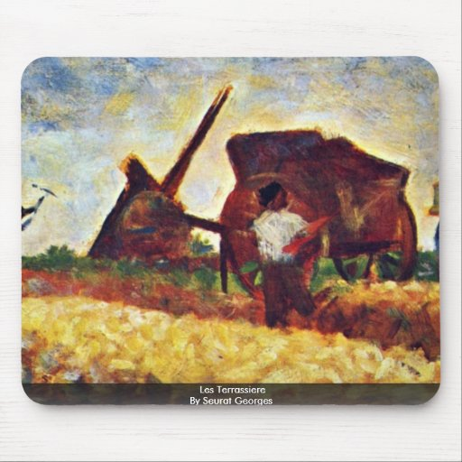 Les Terrassiere By Seurat Georges Mouse Pad