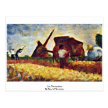 Les Terrassiere By Seurat Georges Postcards