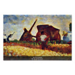 Les Terrassiere By Seurat Georges Print