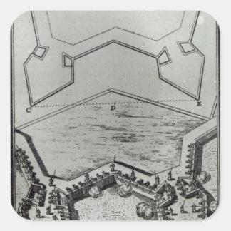 Les Travaux de Mars, ou L'Art de la Guerre' Square Sticker