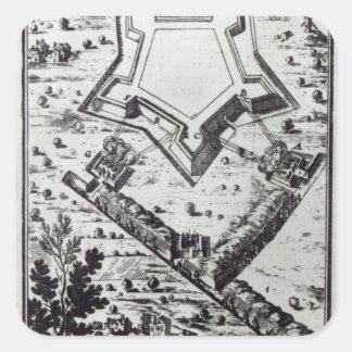 'Les Travaux de Mars, ou L'Art de la Guerre' Square Sticker