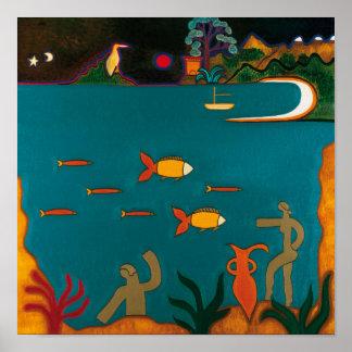 Les Trésors Romaines au Fond de la Mer Poster