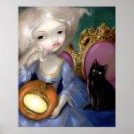 Les Vampires: Lanterne-Citrouille ART PRINT cat