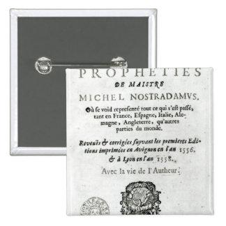 'Les Vrayes Centuries et Propheties Pinback Button