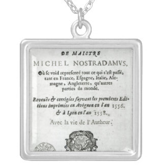 'Les Vrayes Centuries et Propheties Silver Plated Necklace