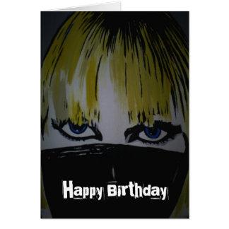 'Les Yeux Sans Visage' Birthday Card