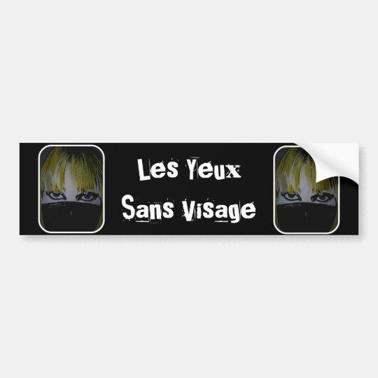 'Les Yeux Sans Visage' Bumper Sticker