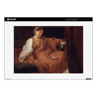 """Lesbia Weeping over a Sparrow, 1866 (oil on panel) 15"""" Laptop Decal"""