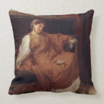 Lesbia Weeping over a Sparrow, 1866 (oil on panel) Throw Pillows