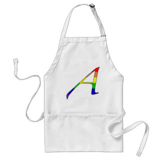 """Lesbian and Gay Pride """"Scarlet"""" Letter A Adult Apron"""