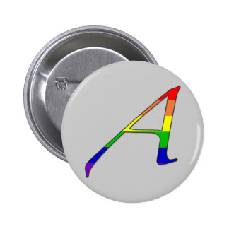 "Lesbian and Gay Pride ""Scarlet"" Letter A Pins"