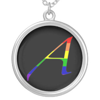 """Lesbian and Gay Pride """"Scarlet"""" Letter A Necklace"""