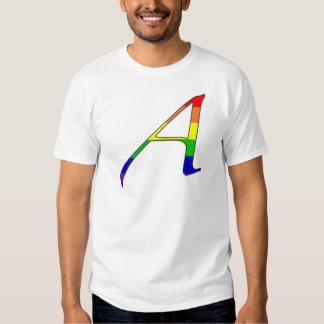 """Lesbian and Gay Pride """"Scarlet"""" Letter A Tee Shirt"""