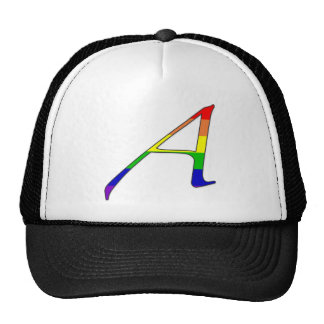 """Lesbian and Gay Pride """"Scarlet"""" Letter A Trucker Hat"""