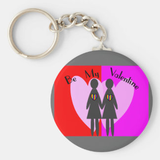 """Lesbian """"Be my Valentine""""-Cards & Gifts Keychain"""