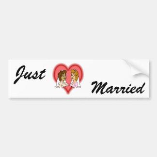 Lesbian Bi-Racial Couple Bumper Sticker
