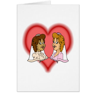 Lesbian Bi-Racial Couple Card