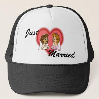 Lesbian Bi-Racial Couple Trucker Hat