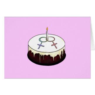 Lesbian Birthday Cake Card