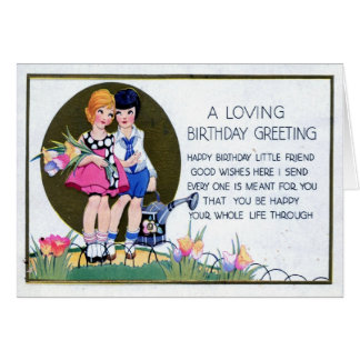 Lesbian Birthday Greeting 1915 Vintage Card