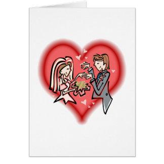 Lesbian Bride & Groom Card