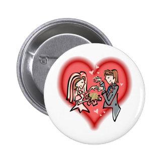 Lesbian Bride & Groom Pinback Button