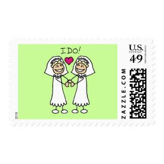 Lesbian Bride Wedding Stamps