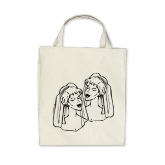 Lesbian Brides Gay Marriage Tote Bag
