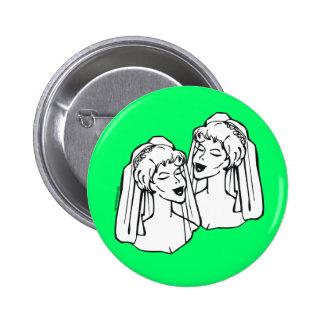 Lesbian Brides Gay Wedding Favors Pins