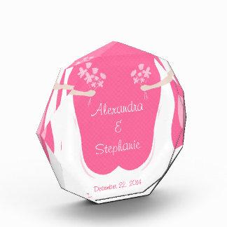 Lesbian Brides Personalized Acrylic Award
