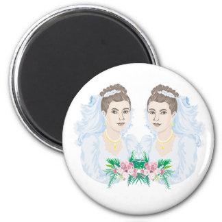 Lesbian Brides Wedding Fridge Magnets