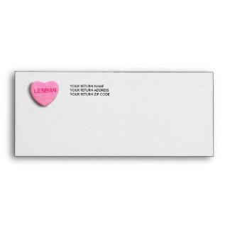 Lesbian Candy Heart Envelope