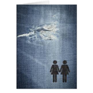 Lesbian couple greeting card