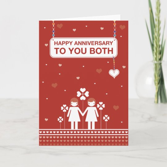 lesbian couple happy anniversary card - Happy Anniversary Cards
