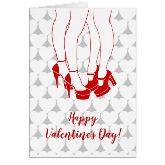 lesbian couple kissing valentines day card