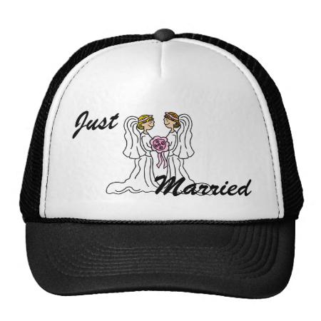 Lesbian Couple Mesh Hat
