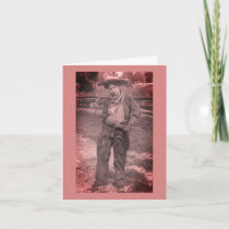 Lesbian Cowgirl Valentine's Day Holiday Card